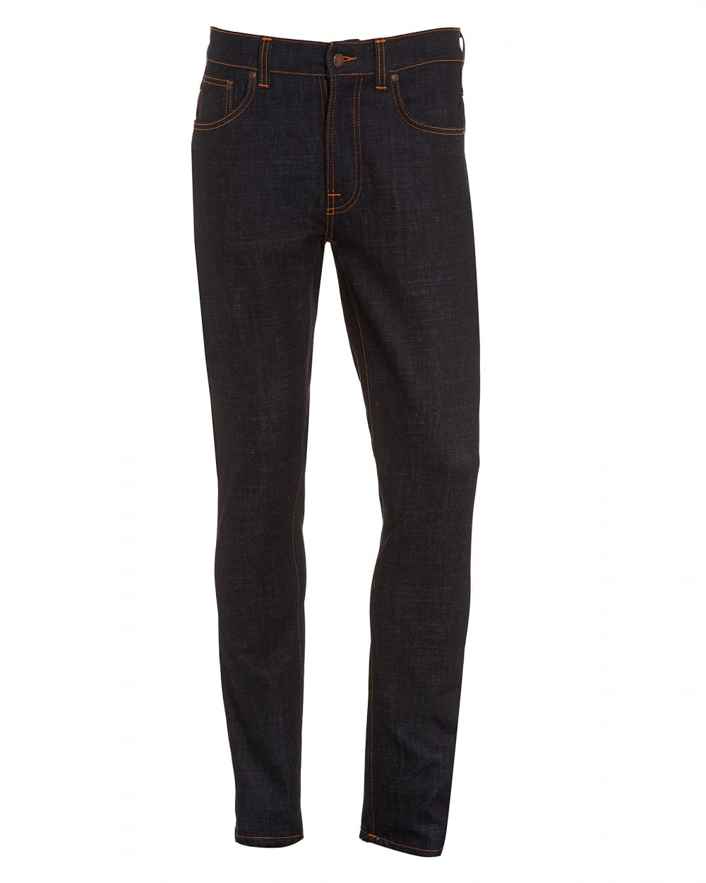 Nudie Lean Dean Slim-fit Dry Organic Denim Jeans - Dark denim Mit4D