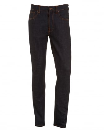 Mens Lean Dean Jean, Dry Slow Dark Slim Fit Organic Stretch Denim