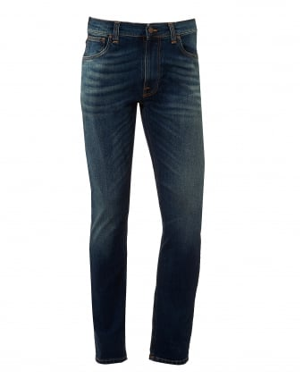 Mens Lean Dean Jeans, Crispy Bora Wash Slim Fit Denim