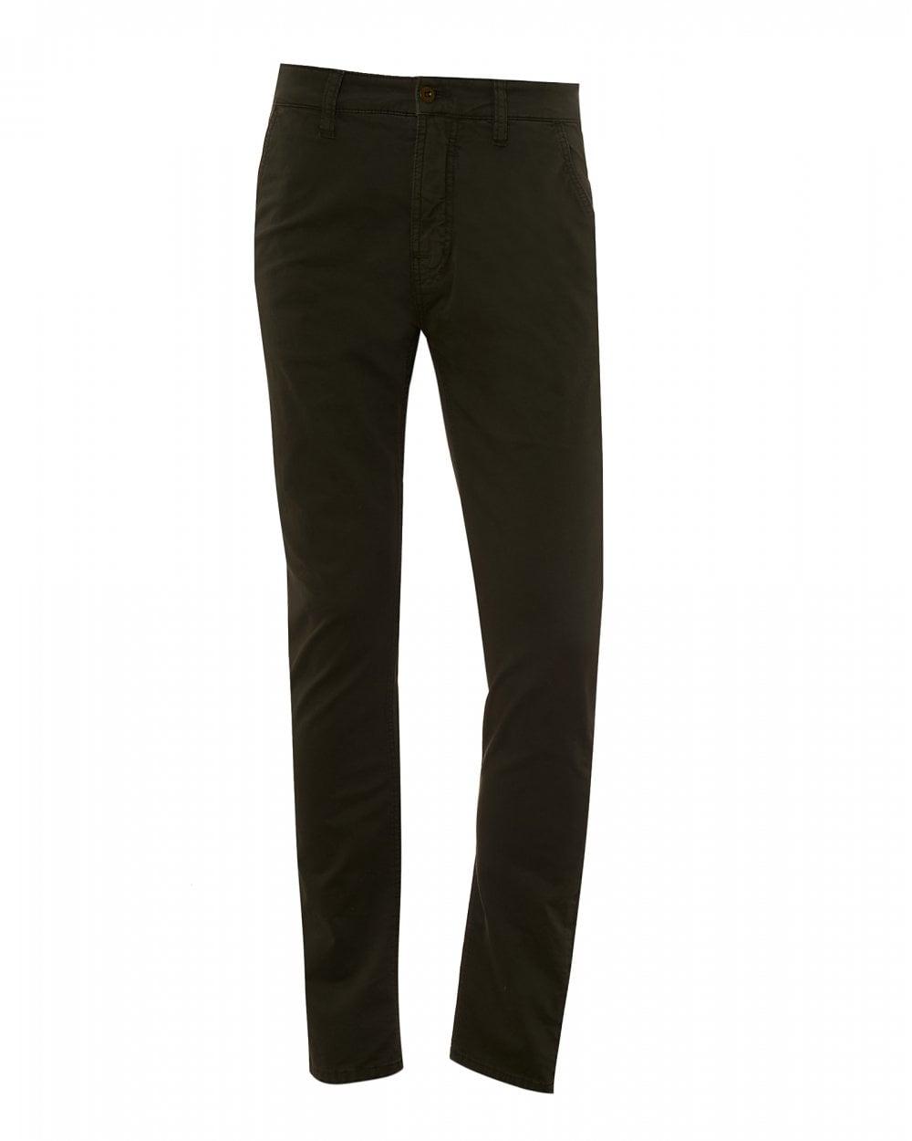 26bda57f562 Nudie Jeans Mens Slim Adam Chinos, Bunker Green Cotton Trousers