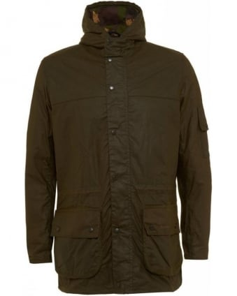 Olive Green Durham Waxed Cotton Jacket