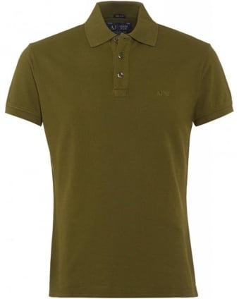 Olive Green Polo Shirt, Muscle Fit Polo