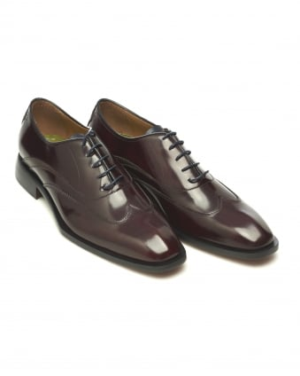 Mens Alassio Grain Detail Oxford Antique Burgundy Shoes