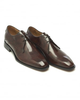 Mens Deliceto Derby Antique Brown Leather Shoe