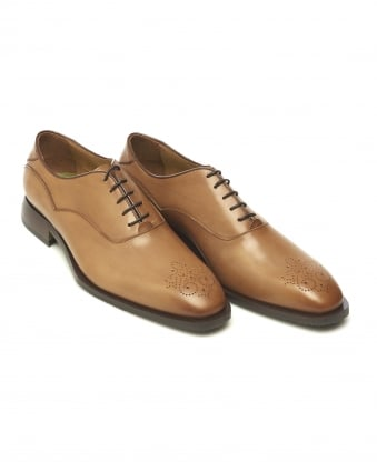 Mens Sabatini Oxford Diamond Toe Tan Shoes