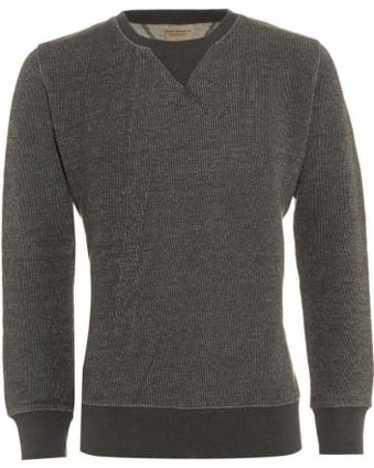 Organic Cotton Jumper, Sven Two Tone Grey Melange Sweatshirt
