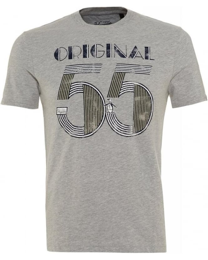 Original Penguin Grey 'Original 55' Print Modern Fit T-Shirt