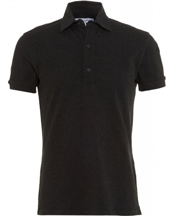 Orlebar Brown Charcoal Melange Polo Shirt, Sebastian Tailored Polo