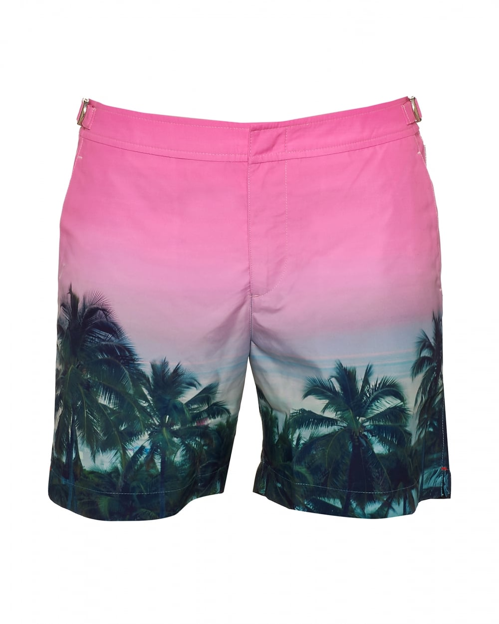 1a15ac1ccf Orlebar Brown Mens Bulldog Palms Aplenty Swim Shorts, Pink ...