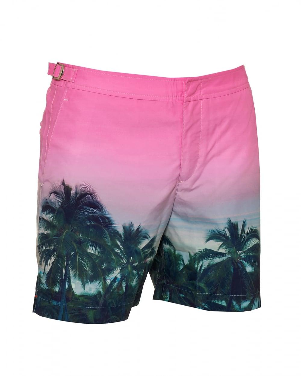 4e0265a271 Orlebar Brown Mens Bulldog Palms Aplenty Swim Shorts, Pink ...