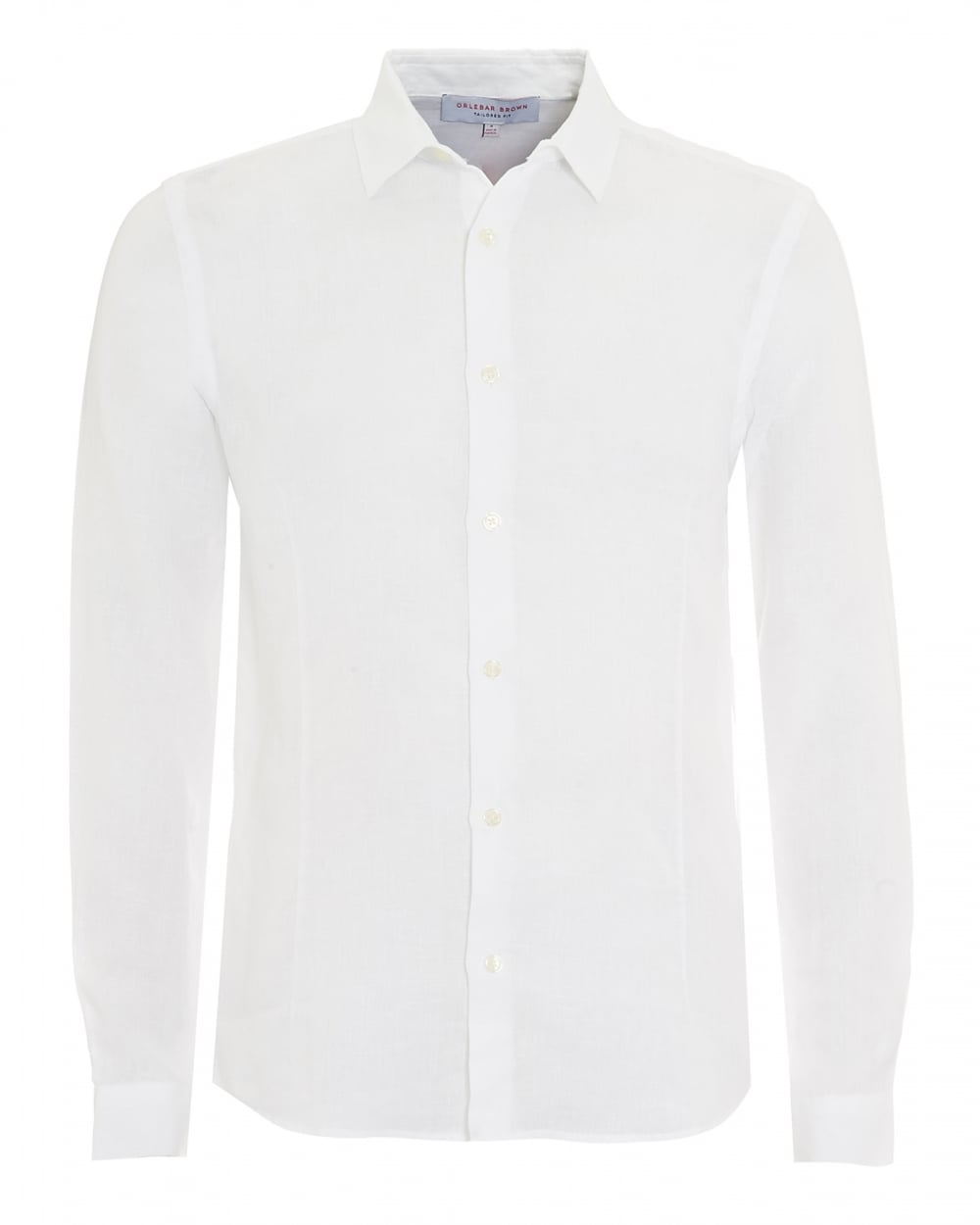 480df65713d0 Orlebar Brown Mens Morton Tailored Long Sleeve White Linen Shirt
