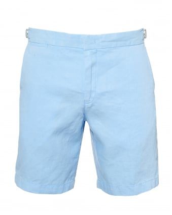 Mens Norwich Tailored Fit Linen Blue Shorts. Orlebar Brown ...