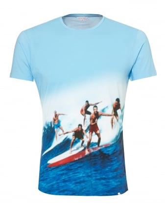 Mens OB-T T-Shirt, Swell Guys Sky Blue Tee