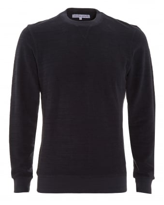Mens Sweatshirt, Pierce Terry Ink Blue Jumper