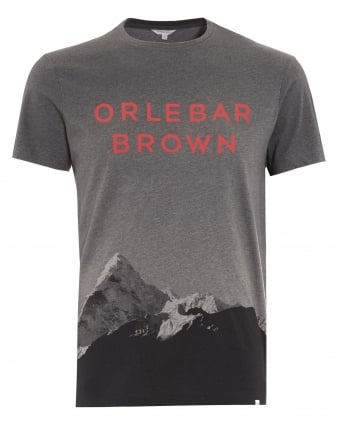 Mens T-Shirt, Sammy Branded Mountain Graphic Grey Tee