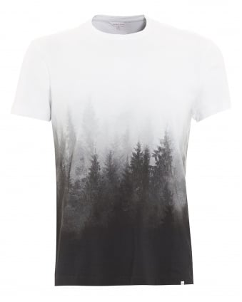 Mens T-Shirt, Sammy Mountain Forest Graphic Grey Tee