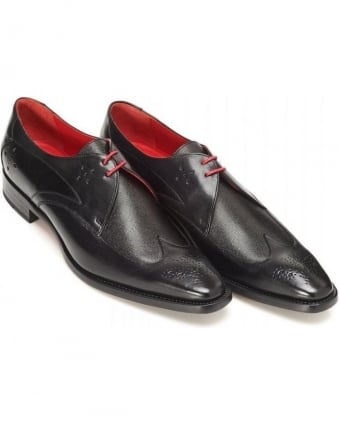 O'Toole Laurence Black Caviar Gibson Leather Shoe