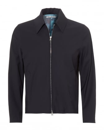 Mens Doby Wool Blend Navy Blue Jacket