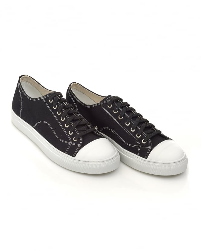 Our Legacy Mens Gravel Duster Trainers, Canvas Black Sneakers