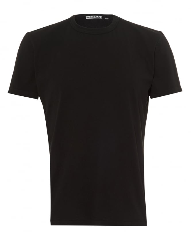 Our Legacy Mens Perfect T-Shirt, Cotton Black Tee