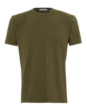 Mens Perfect T-Shirt, Cotton Olive Green Tee