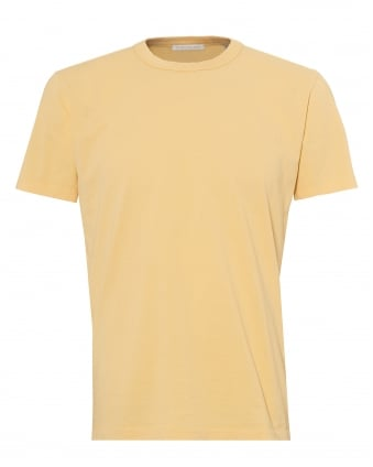 Mens Perfect T-Shirt, Cotton Sun Yellow Tee