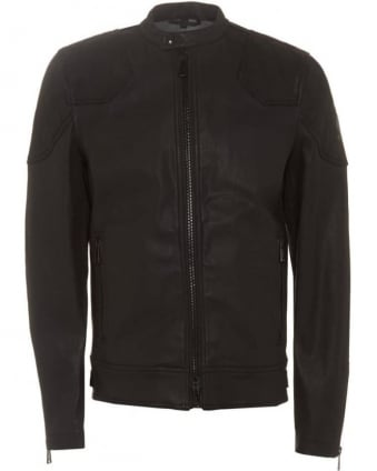 Outlaw Jacket Mens Cotton Black Biker Jacket