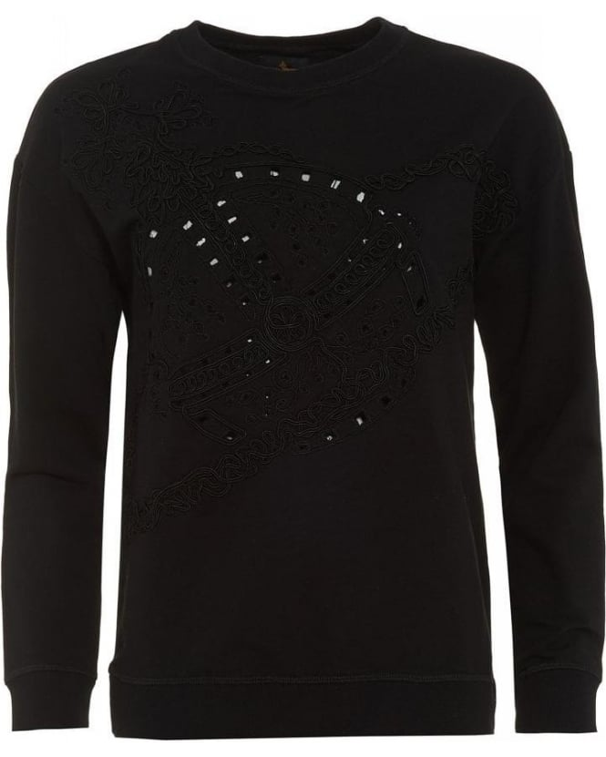 Vivienne Westwood Anglomania Over-Sized Black Orb Sweatshirt