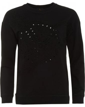 Over-Sized Black Orb Sweatshirt