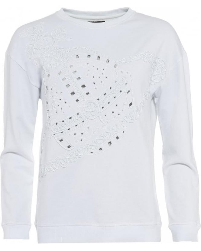 Vivienne Westwood Anglomania Over-Sized White Orb Sweatshirt