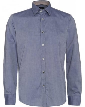 Oxford Shirt 'Lucas 16' Navy Blue Regular Fit Shirt