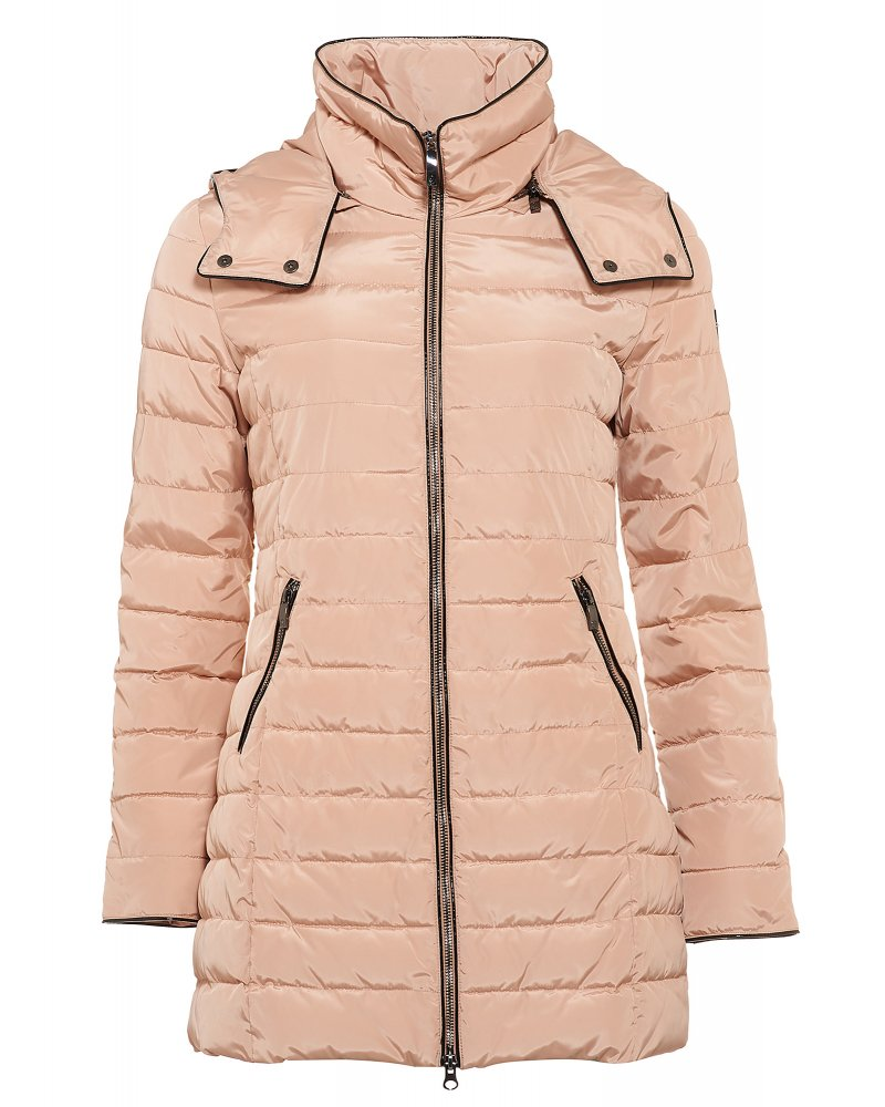 Armani Jeans Padded Jacket Pink Quilted Hooded Coat