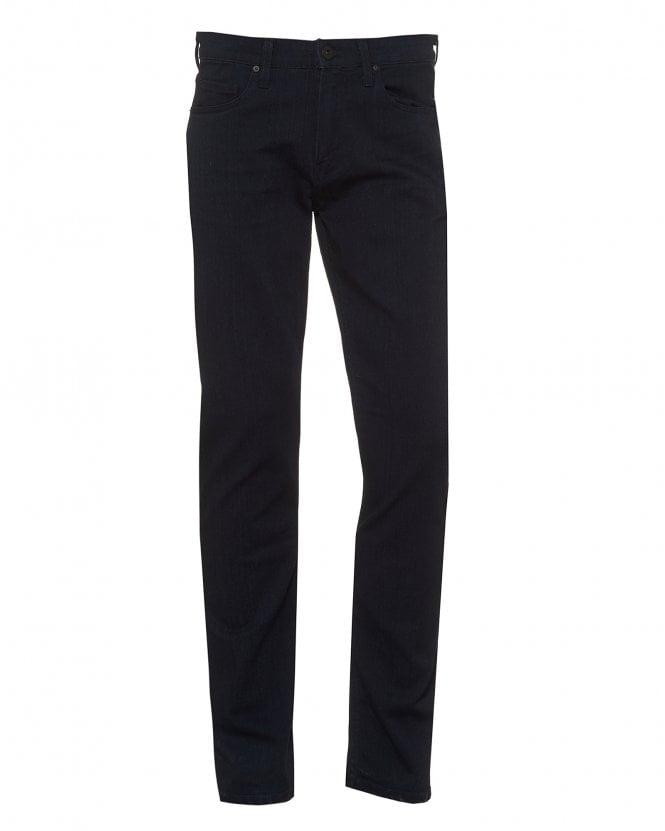 Paige Jeans Mens Inkwell Lennox Jeans, Slim Fit Dark Navy Denim