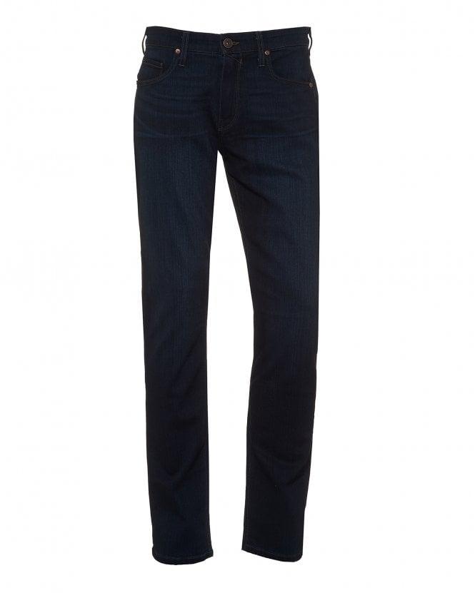 Paige Jeans Mens Lennox Jeans, Slim Fit Russ Wash Dark Navy Denim