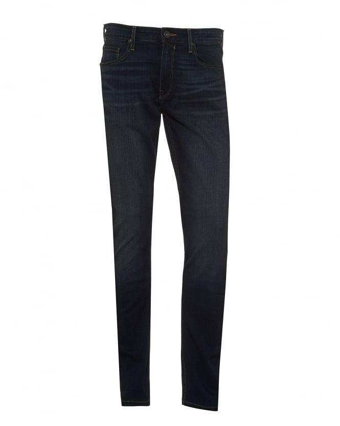 Paige Jeans Mens Lennox Jeans, Slim Fit Super Stretch Navy Blue Denim