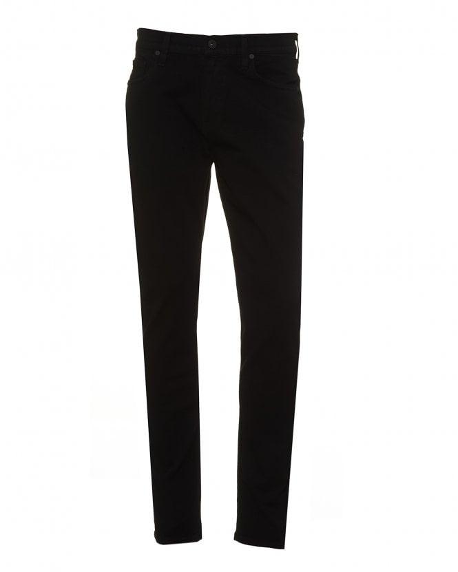 Paige Jeans Mens Lennox Shadow Jeans, Slim Fit All Black Denim