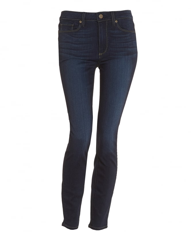 Paige Jeans Womens Hoxton Hartman High-Rise Mid Dark Wash Ultra-Skinny Jeans