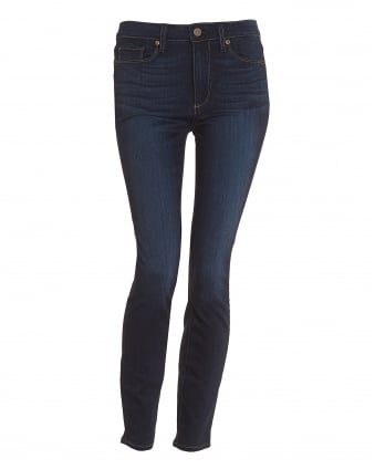 Womens Hoxton Hartman High-Rise Mid Dark Wash Ultra-Skinny Jeans