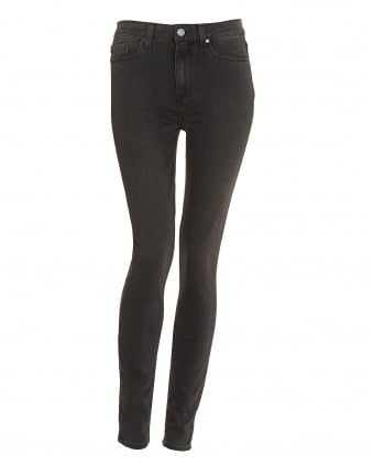 Womens Hoxton High-Rise Smoke Grey Ultra Skinny Jeans