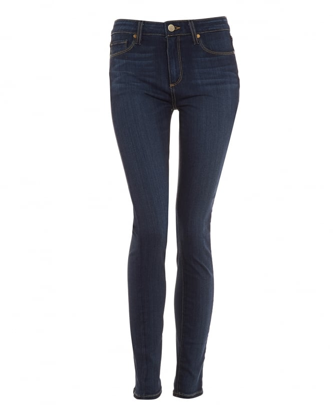 Paige Jeans Womens Hoxton Skinny Fit Jean, Vista Mid Wash Transcend Denim