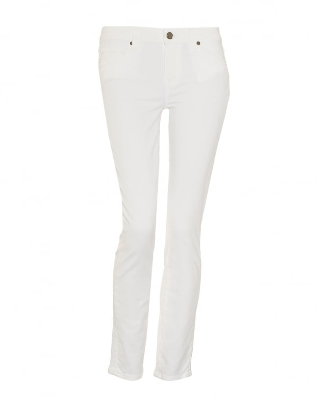 Paige Jeans Womens Skyline Jeans, Ankle Peg White Denim