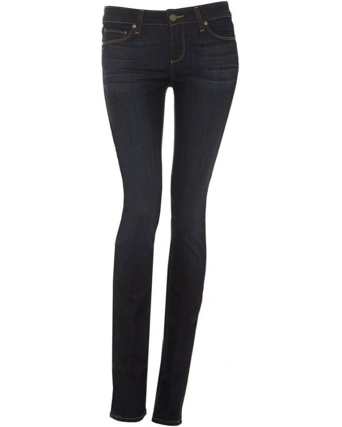 Paige Jeans Womens Skyline Straight Jean, Stream Straight Leg Dark Denim