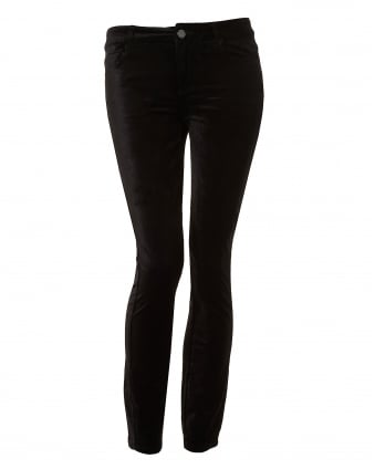 Womens Verdugo Ankle Jeans, Velvet Overdye Black Denim