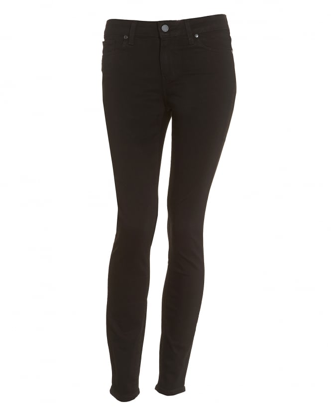 Paige Jeans Womens Verdugo Black Shadow Super Skinny Ankle Jeans