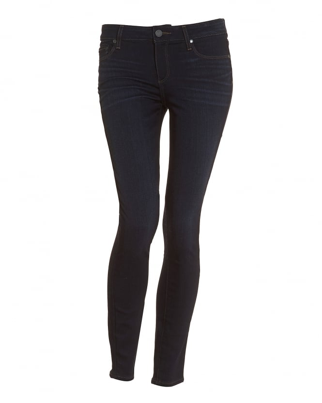 Paige Jeans Womens Verdugo Ellora Dark Clean Washed Ultra-Skinny Jeans