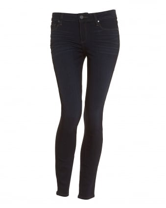 Womens Verdugo Ellora Dark Clean Washed Ultra-Skinny Jeans