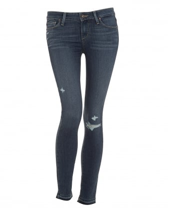 Womens Verdugo Jeans, Distressed Lexi Deconstructed Denim