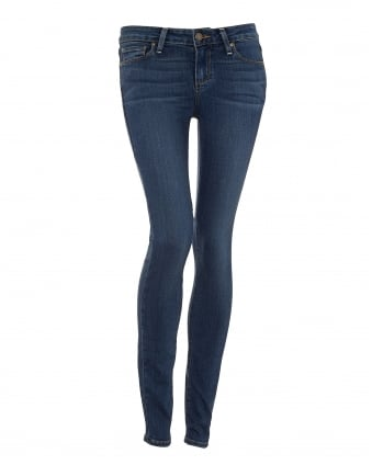 Womens Verdugo Jeans, Tristan Mid Light Wash Skinny Denim