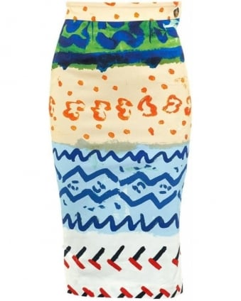 Paradise Pencil Skirt Multi Coloured Skirt