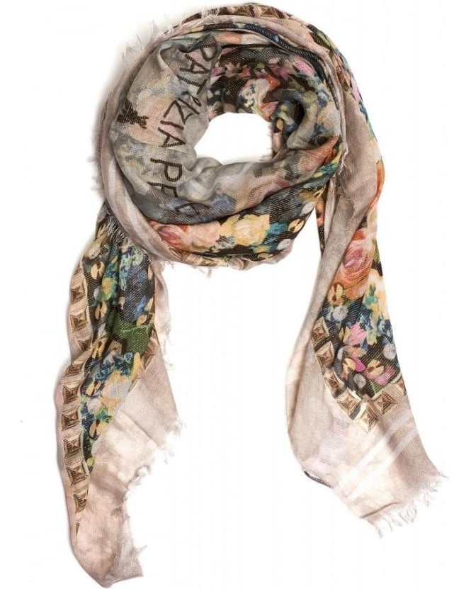 Patrizia Pepe Scarf Light All Over Rose Square Foulard Scarf
